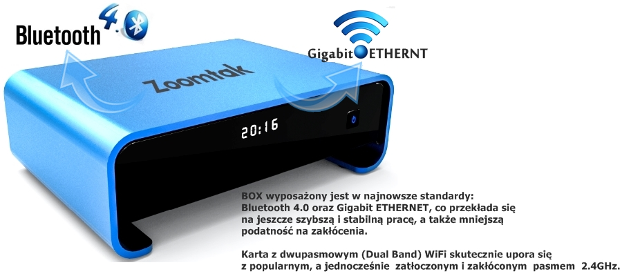 Smart TV bluethoot dual band Wifi upro